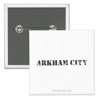 Arkham City Distressed Button