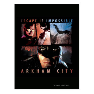 Arkham City Escape is Impossible Postcard