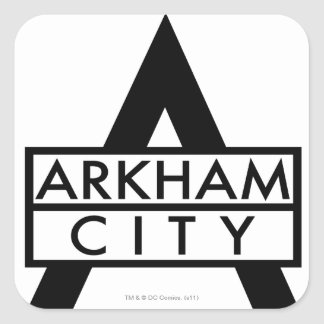 Arkham City Icon Square Sticker