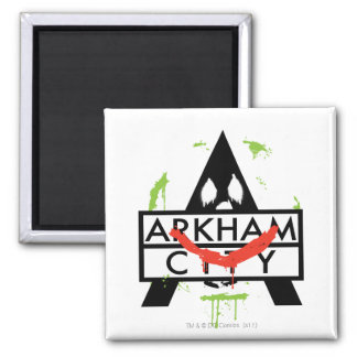 Arkham City Icon w/ Joker marks 2 Fridge Magnets