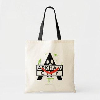 Arkham City Icon w/ Joker marks 2 Budget Tote Bag