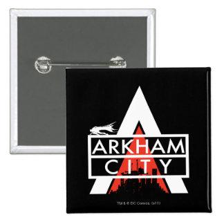 Arkham City Logo White 15 Cm Square Badge