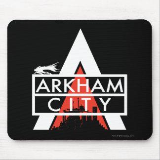 Arkham City Logo White Mousepad
