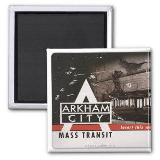 Arkham City Mass Transit Pass Square Magnet