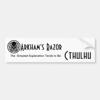 Arkham's Razor Bumper Sticker