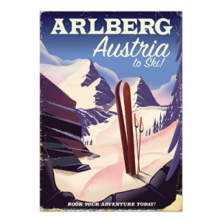 Arlberg Austria ski travel poster