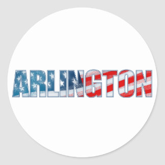 Arlington Classic Round Sticker