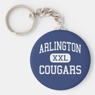 Arlington - Cougars - Catholic - Arlington Basic Round Button Key Ring