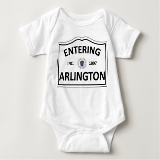 ARLINGTON MASSACHUSETTS Hometown Mass MA Townie Baby Bodysuit