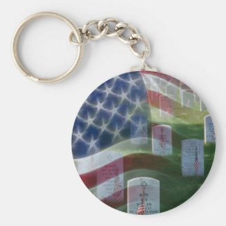 Arlington National Cemetery, American Flag Basic Round Button Key Ring