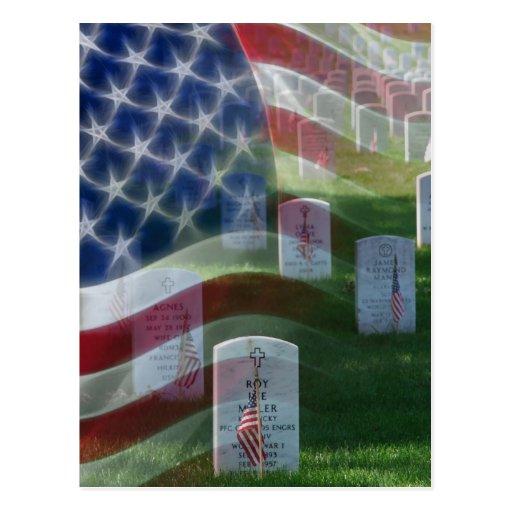 Arlington National Cemetery, American Flag Postcards