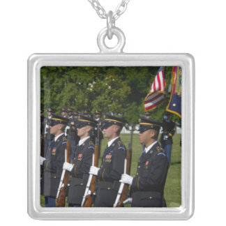 Arlington National Cemetery, Arlington, Square Pendant Necklace