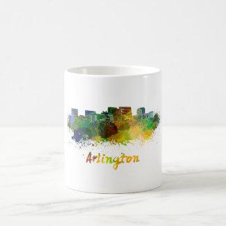 Arlington skyline in watercolor coffee mug