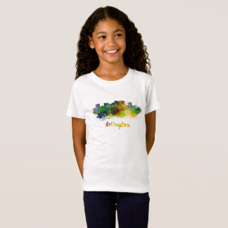 Arlington skyline in watercolor T-Shirt