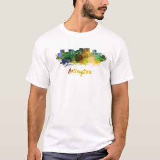 Arlington skyline in watercolor T-Shirt