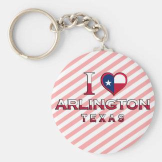 Arlington, Texas Basic Round Button Key Ring