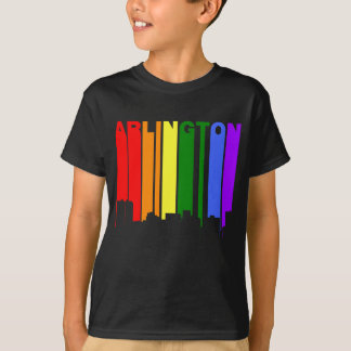 Arlington Texas Gay Pride Rainbow Skyline T-Shirt
