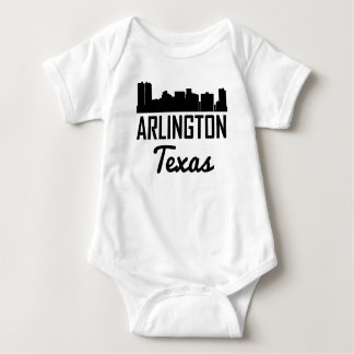 Arlington Texas Skyline Baby Bodysuit