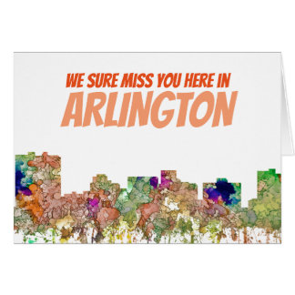 Arlington Texas Skyline SG-Faded Glory Card