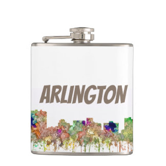 Arlington Texas Skyline SG-Faded Glory Hip Flask