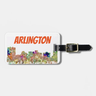 Arlington Texas Skyline SG-Faded Glory Luggage Tag