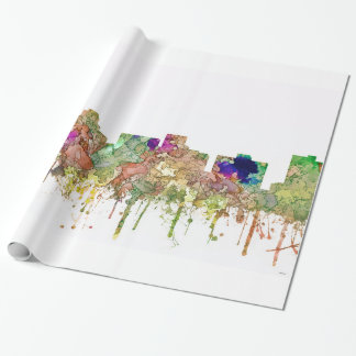 Arlington Texas Skyline SG-Faded Glory Wrapping Paper
