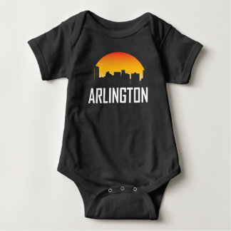 Arlington Texas Sunset Skyline Baby Bodysuit