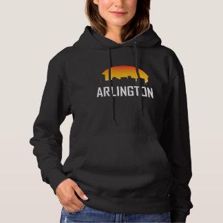 Arlington Texas Sunset Skyline Hoodie
