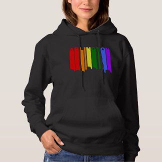 Arlington Virginia Gay Pride Rainbow Skyline Hoodie