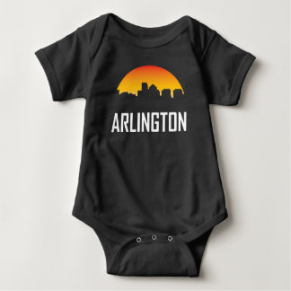 Arlington Virginia Sunset Skyline Baby Bodysuit