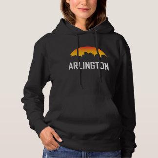 Arlington Virginia Sunset Skyline Hoodie