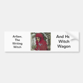 Arllaw, The Writing Witch. Bumper Sticker