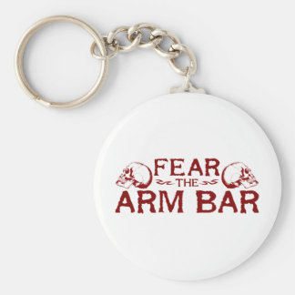 Arm Bar Basic Round Button Key Ring