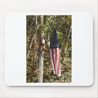 Arm Flag Holder Fun Americana American Mouse Pad