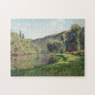 Arm of Seine at Jeufosse Afternoon Monet Fine Art Jigsaw Puzzle