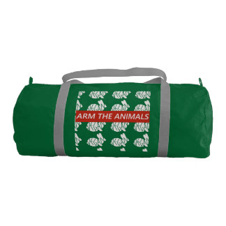Arm the Animals Bunny duffel Gym Bag