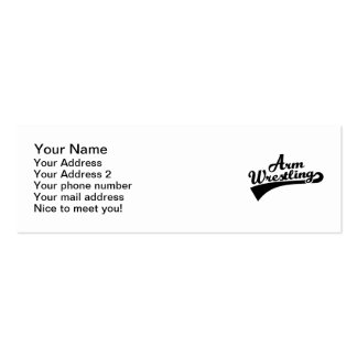 Arm wrestling Double-Sided mini business cards (Pack of 20)