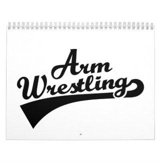 Arm wrestling wall calendars