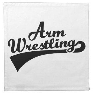 Arm wrestling napkins