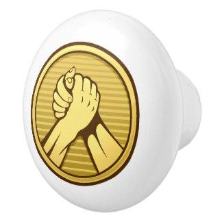 Arm wrestling Gold Ceramic Knob