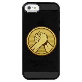 Arm wrestling Gold Clear iPhone SE/5/5s Case