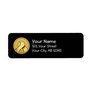 Arm wrestling Gold Return Address Label