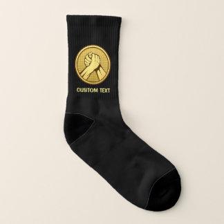 Arm wrestling Gold Socks
