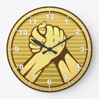 Arm wrestling Gold Wallclocks