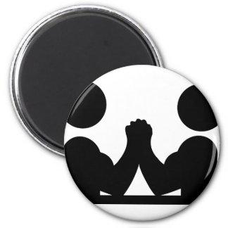 arm wrestling icon 6 cm round magnet
