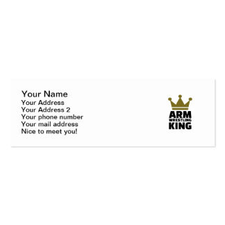 Arm wrestling king pack of skinny business cards