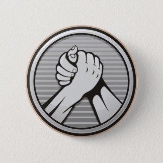 Arm wrestling Silver 6 Cm Round Badge