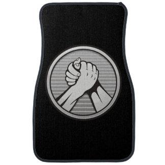 Arm wrestling Silver Car Mat