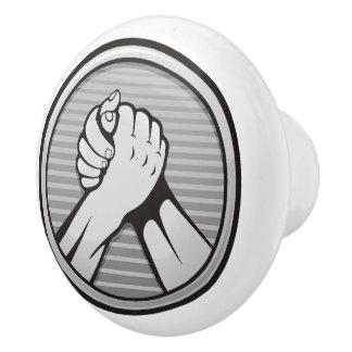 Arm wrestling Silver Ceramic Knob