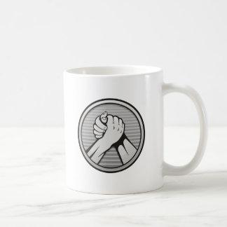 Arm wrestling Silver Coffee Mug